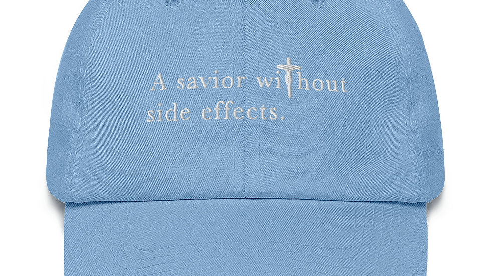 A Savior Without Side Effects - Cotton Cap - Dark Cap - Light Text