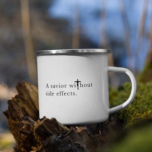 A Savior Without Side Effects - Enamel Mug