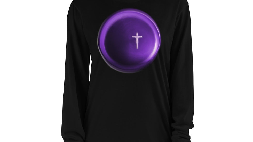 Crucifix Circle - Long sleeve t-shirt