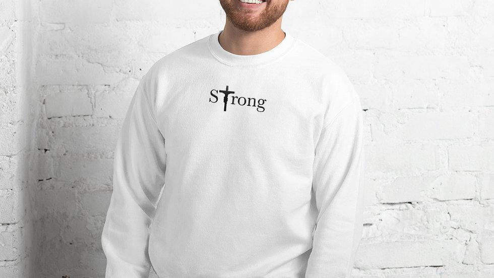 Strong - Unisex Sweatshirt - Light W/ Dark Text