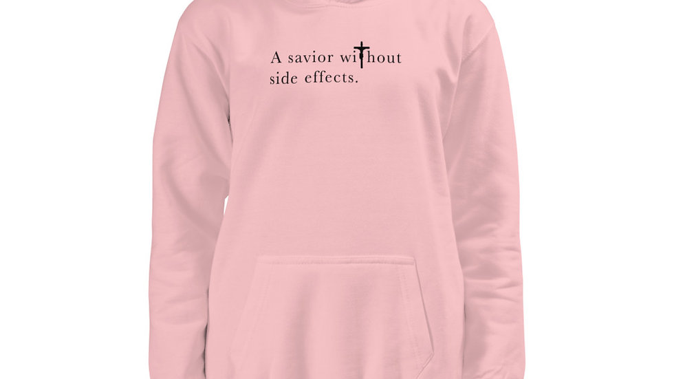 A Savior Without Side Effects - Light W/ Dark Text - Kids Hoodie