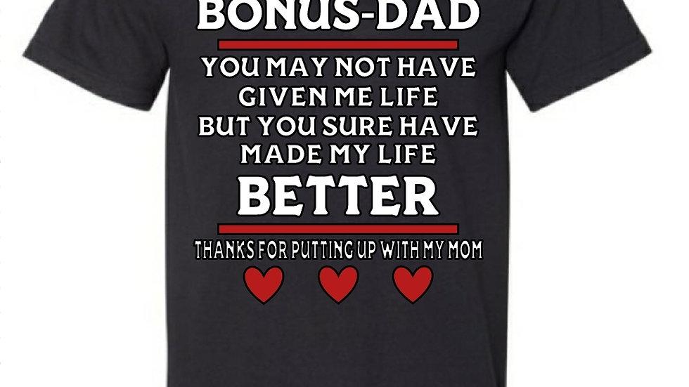 Bonus Dad tshirt