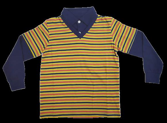 Yarn/Dyed Stripes Boys Full Sleeve