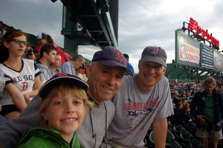 3 Generations of Noel boys at Fenway