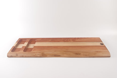 Live Edge Curly Cherry Appetizer Board