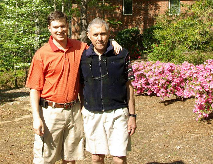 My Dad and I on his 71st Birthday
