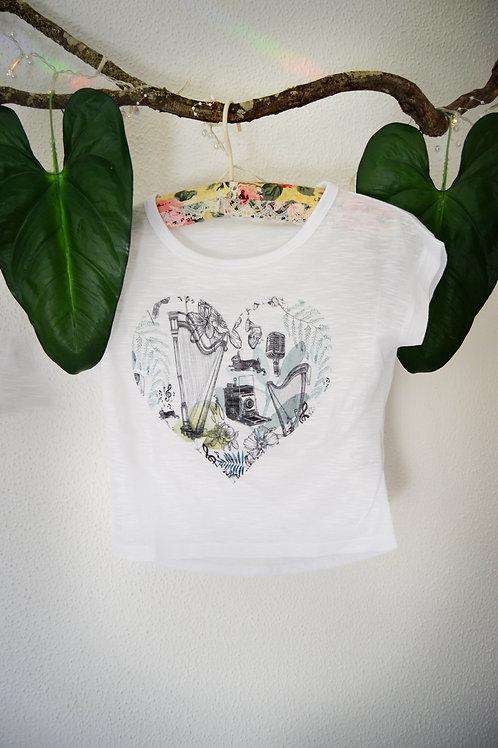 Camiseta peq. Corazón verde
