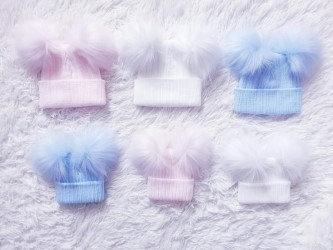 TwoPom- Poms  Fluffy Hats