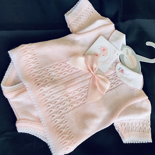 Summer Knit, Pink 2 Piece 1 Bow Set