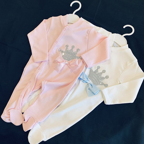 Royal Crown Babygro  ( Pack of 2 Assorted)