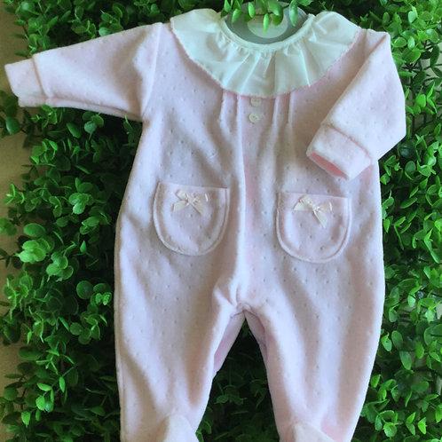 Prem-Pink Frilled Baby Grow