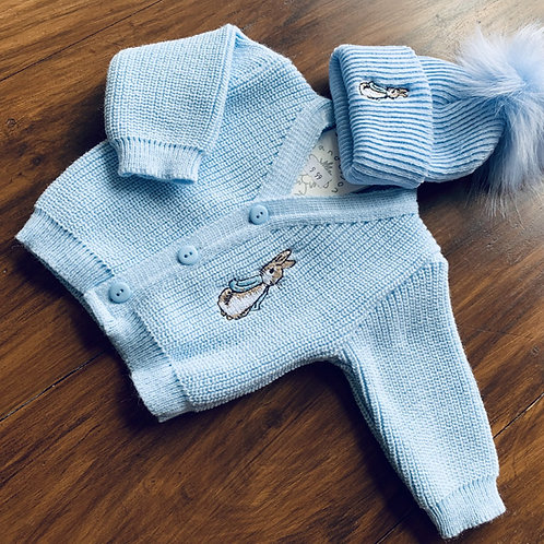 Rabbit Cardy and Hat Set