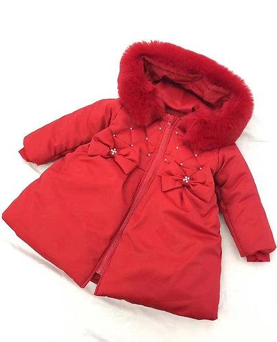 Fur Hooded Puffer Coat
