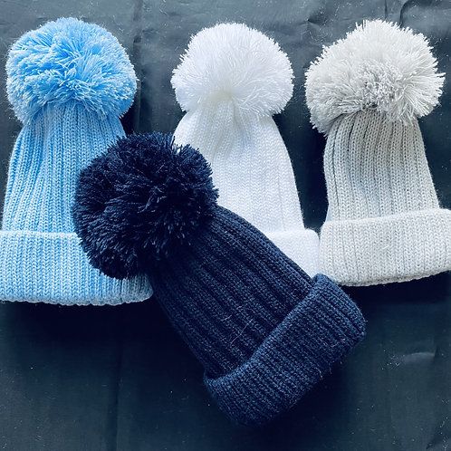 """""""Baby Cascade Pom-Pom  Baby Hat (Lined)"""