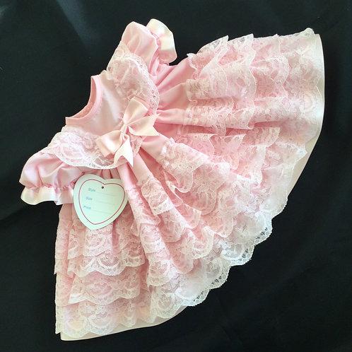 Pink Lace Baby Dress