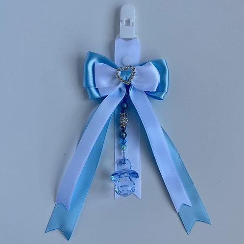 Blue And White Bow Pram Charm