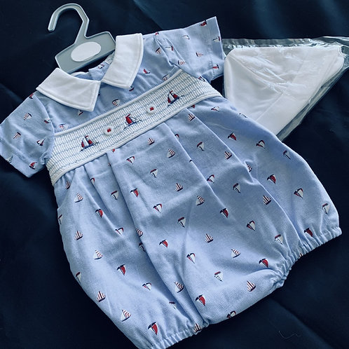 Yacht Romper and Hat Set