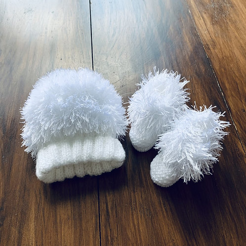 Softest Snowflake Hat and  Bootee Set