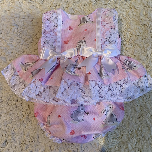Spanish Style (Shorty)  Easter Bunny,  Dress and Pants Set