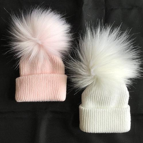 1 Fluffy  Pom Pom Hat