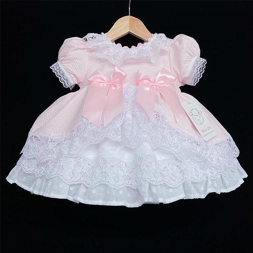 Pink Two Bow Fancy Dress