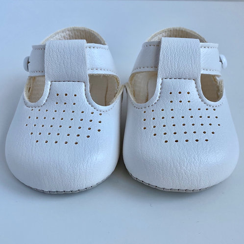 Baby's First Shoes-Unisex White Shoes