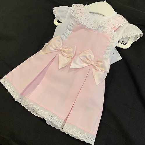 Broadrie Anglaise Pinafore Set