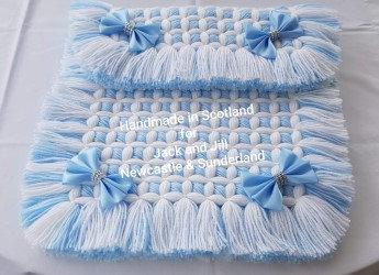 Kriss Kross 4 Bow Pram Blanket
