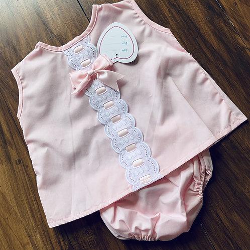 Poly/cotton Dress + Pants Set