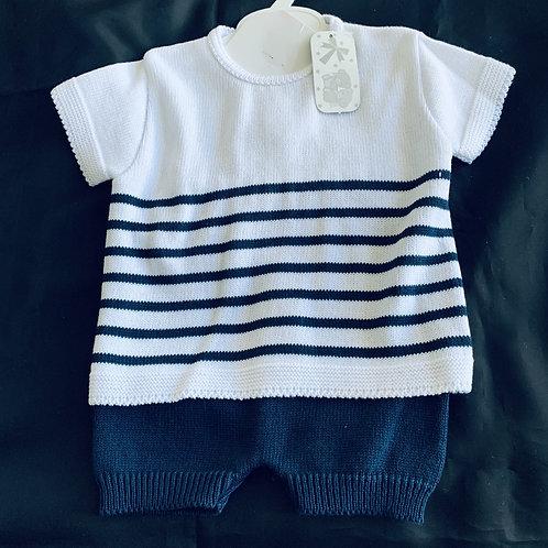 Baby Boy Fine Knit Set