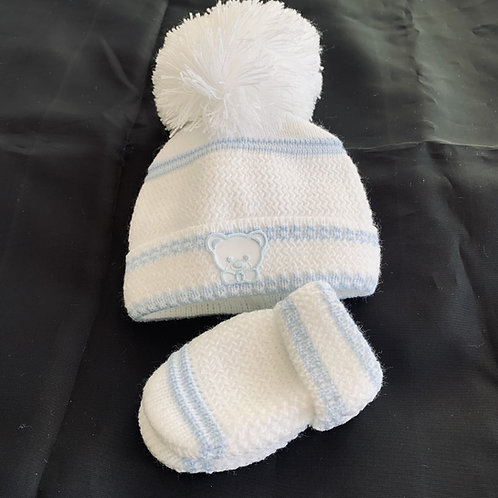 Newborn Hat and Mitt Set