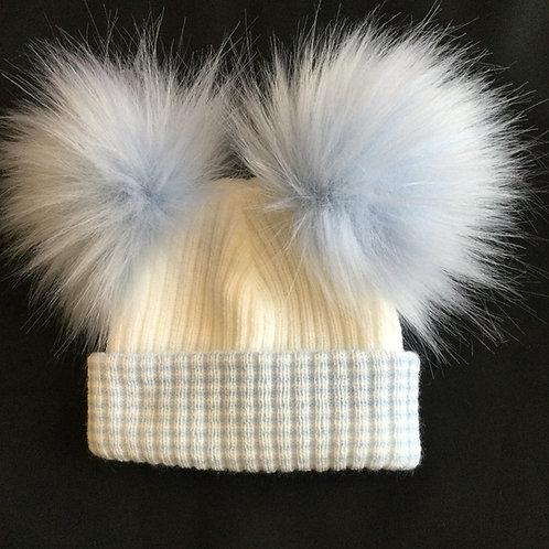 Fluffy 2 Pom Pom Hat