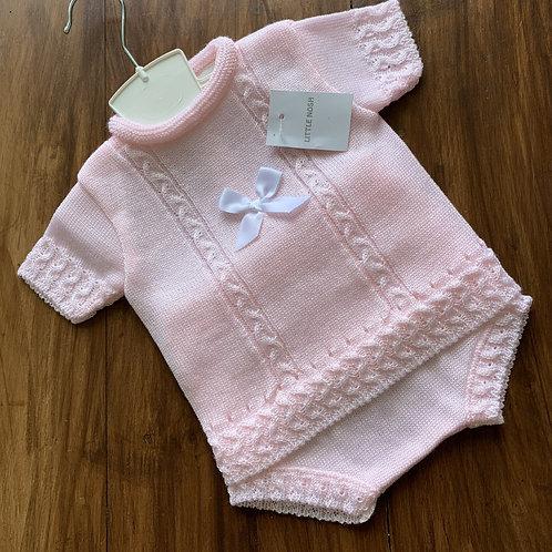 Summer fine Knit,   Pink 2 Piece Set