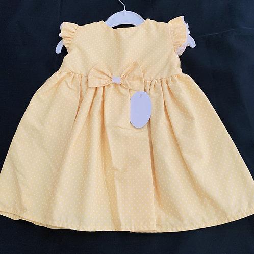 Sunshine Lemon Cotton (Lined) Dress