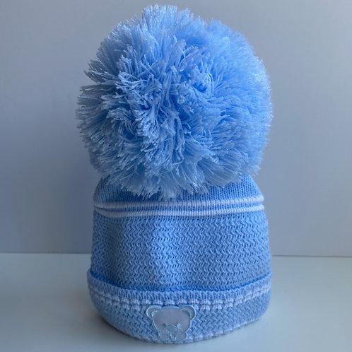 Newborn Teddy Hat in blue