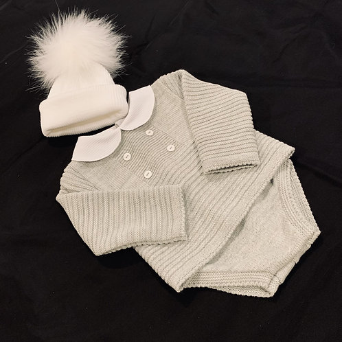 Suit with Fluffy Hat Set