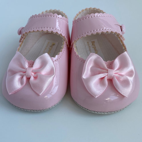 Baby's First Shoes-Girls Pink Bow Shoes