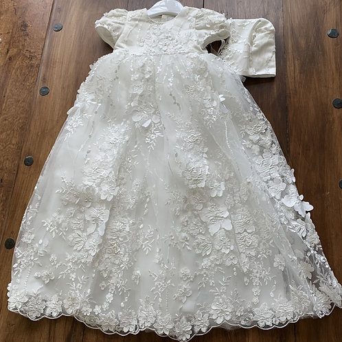Beautiful Christening (Naming-Day) Gown and Hat