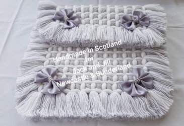 Beautiful Fringed Pram Rug