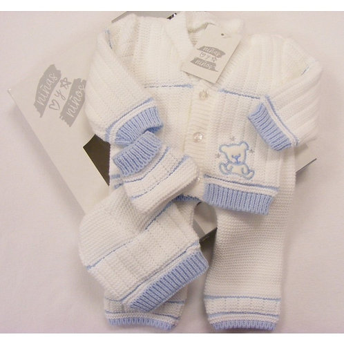 4 Piece Knitted New Baby Set