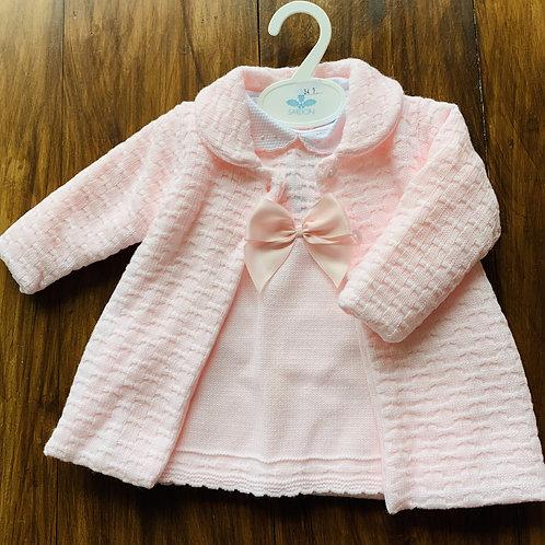 Beautiful Portugese Baby Coat +Dress Set