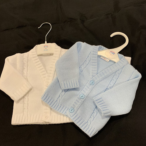 Boys Blue + White Cardigan Pack