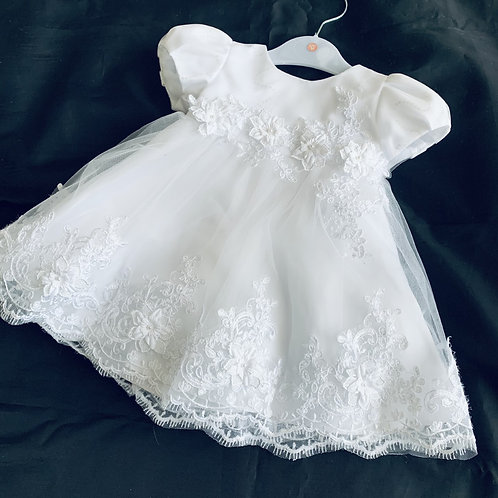 Embroided Sparkle Dress  White only