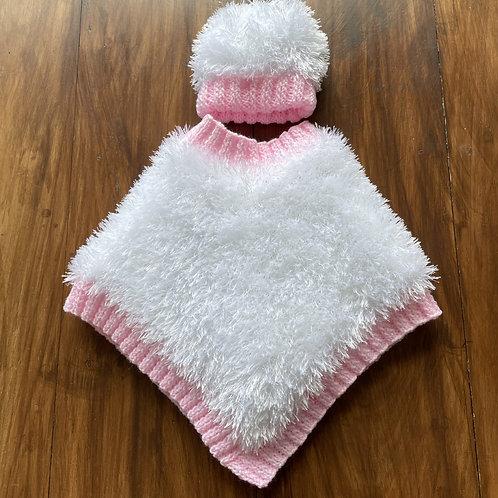 Softest Snowflake Poncho + Hat