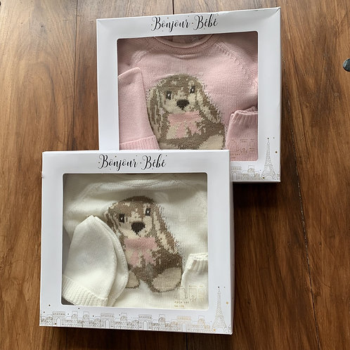 Boxed 4 Piece Bunny Set Newborn and  0-3 months only