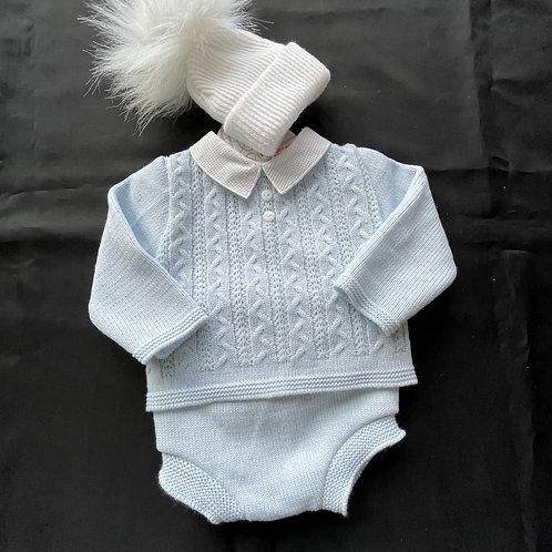 Pex 2 piece Boys Spanish Fine Knitted Suit +Hat