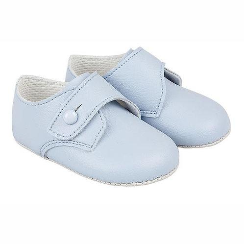 Soft Sole Shoes,  White + Blue