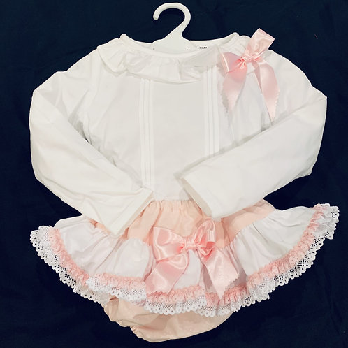 Girls Blouse and Frilly Pants Set