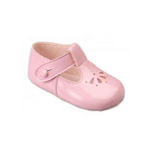 Baby Shoes  Blue, White, Pink,  ( soft sole )