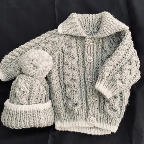 Baby Knitted Hat and Cardy Set (Assorted Patterns)
